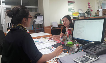 ผู้รับบริการศูนย์บริการร่วมกรมส่งเสริมการเกษตร วันที่ 20 มิถุนายน 2560