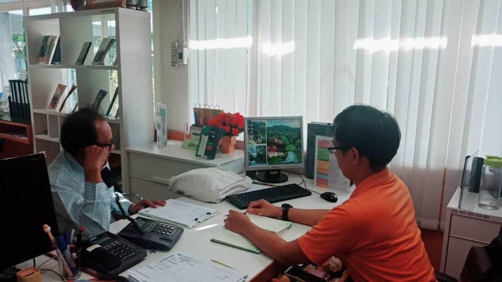 ผู้ใช้บริการ ณ ศูนย์บริการร่วมกรมส่งเสริมการเกษตร