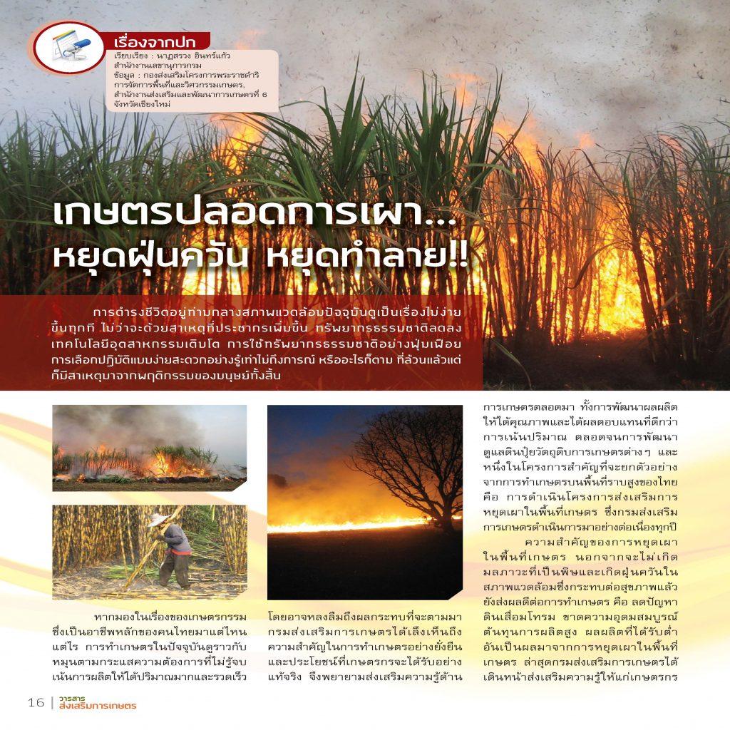 เกษตรปลอดการเผา