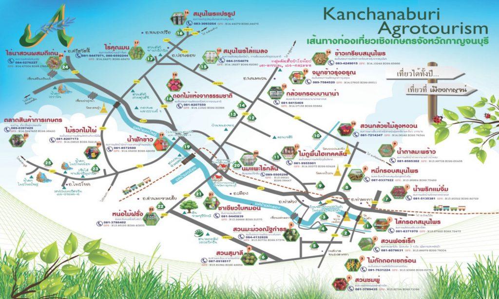เส้นทางท่องเที่ยวเชิงเกษตรจังหวัดกาญจนบุรี