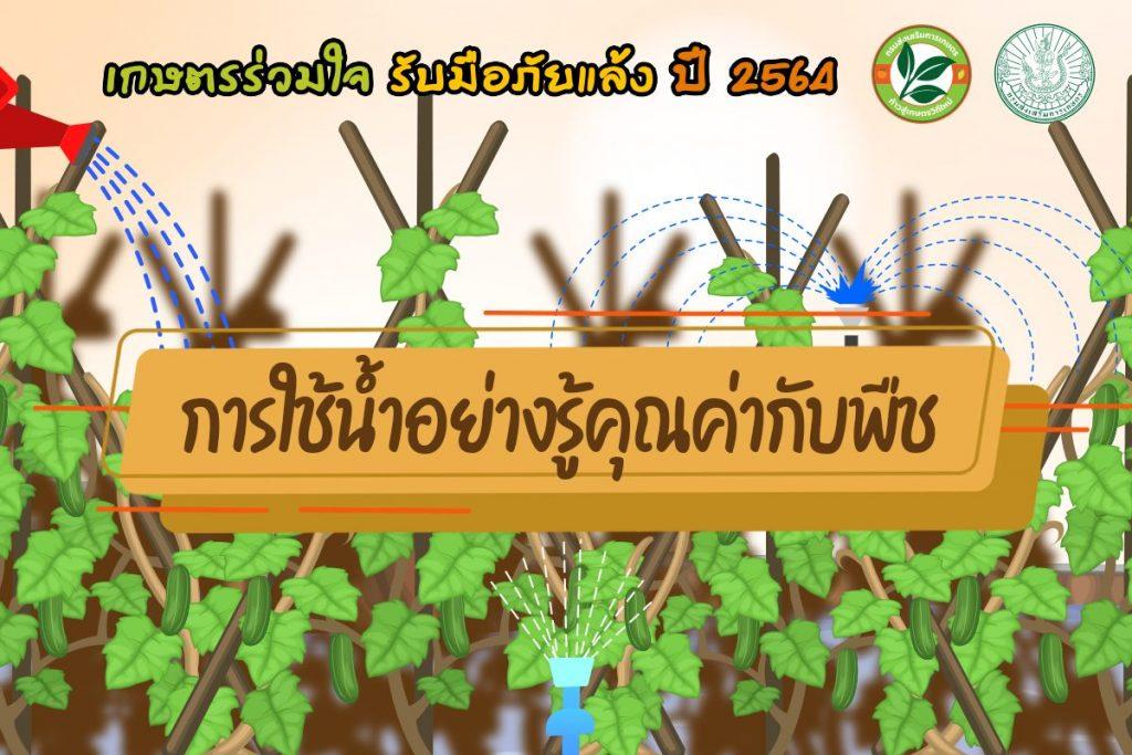 เกษตรร่วมใจ รับมือภัยแล้ง ปี 2564 การใช้น้ำอย่างรู้คุณค่ากับพืช